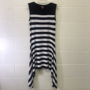 Vince Camuto kerchief striped dress Size S